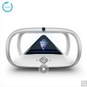 狗尾草(Gowild.cn)holoera琥珀虚颜智能机器人 3D全息投影偶像养成陪伴娱乐机器人 琥珀银色尊享版
