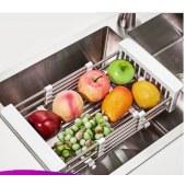 四季沐歌 MICOE 厨房置物架沥水架伸缩碗筷沥水架不锈钢水槽架 M-G1001(320)伸缩篮