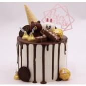 北图布可森林 巧克力甜筒星球蛋糕 北图原创蛋糕